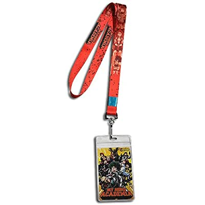 Great Eastern Entertainment GE-38143 My Hero Academia: Red Monochrome Group Lanyard: Toys & Games
