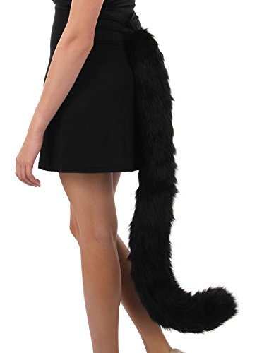 Elope Kitty Cat Costume Tail Black for Adults and Women ()