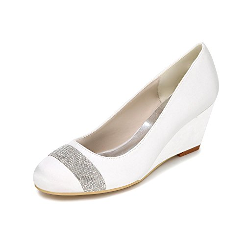 Color Personnalisation white Wedge Femmes 9140 Large L Yards Confortable Multi à hauts Wedge 04 Chaussures talons YC Oqa8CwW4