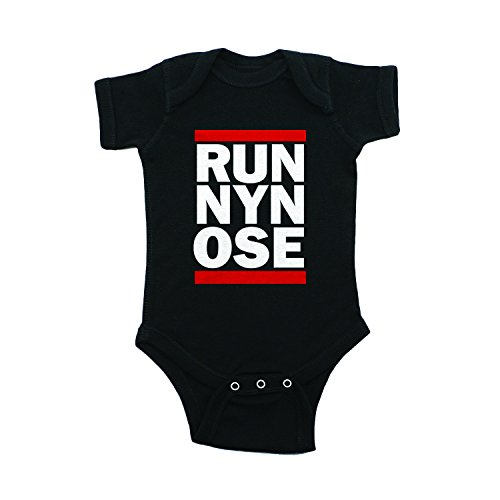Runny Nose Baby Onesie - Funny Novelty Graphic Screen Printed Short Sleeve One-Piece Bodysuit for Infant Girls & Boys