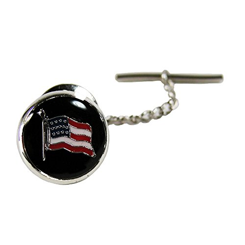 - Competition Inc. American Flag Tie Tac, Silver