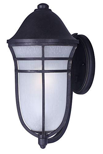 (Maxim 34205WPAT Westport DC 1-Light Outdoor Wall, Artesian Bronze Finish, Wisp Glass, MB Incandescent Incandescent Bulb , 9W Max., Wet Safety Rating, 3000K Color Temp, Shade Material, 800 Rated Lumens)