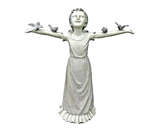 (Outdoor Girl Statue Basking in God's Glory Medium Size Resin/Plastic Material Designer Resin - Skroutz Deals)