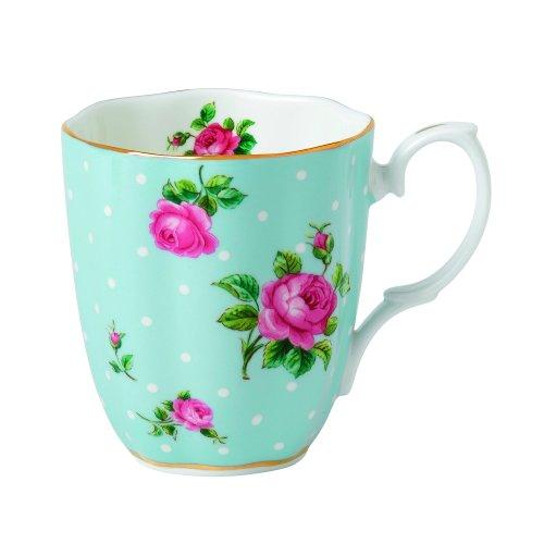 (Royal Albert Vintage Mug-Polka Blue)