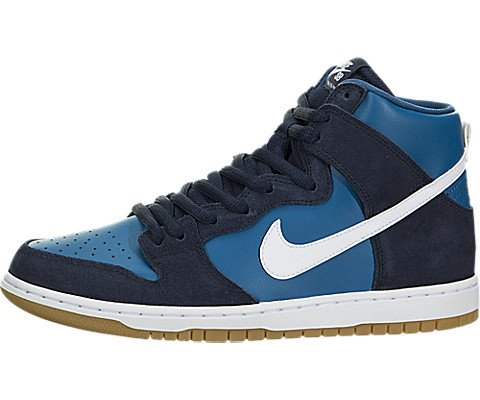 Nike Men's SB Zoom Dunk High Pro Skate Shoe (9.5 D(M) US,  Obsidian/White/Industrial/Blue)