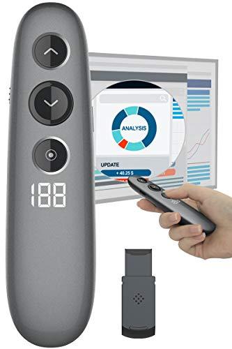 Presentation Remote, Doosl Digital Highlighting Wireless Presenter Clicker Magnify Pointer Digital Laser Pointer Mouse with LCD Timer,Clicker for...