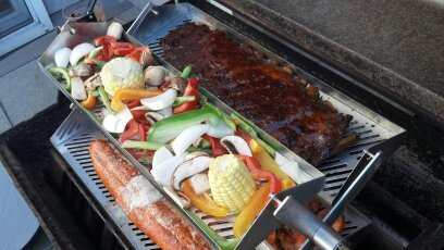- The Rib-O-Lator Adjustable trays