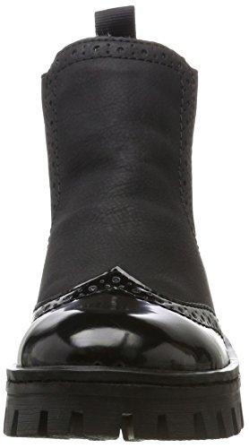 75752 Mujer Chelsea Schwarz Negro para Rieker Botas Nero dPqwRR