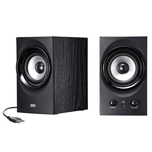 SANWA SUPPLY high-power USB speaker MM-SPU9BK (Black) by Sanwa