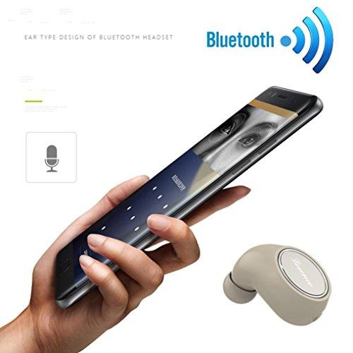 DZT1968 Portable Mini Wireless Bluetooth 4.1 Headphone Stereo In-Ear High-fidelity sound Earphones Headset (Khaki)