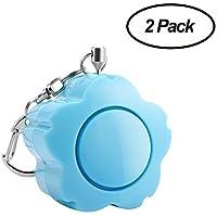 2 Pack ANRUI 130dB Personal Alarm Keychain Rape Attack Safety Alarms Self Defense Loud Alarm Siren Key Chain Emergency Alarm