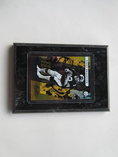 TERRY BRADSHAW PITTSBURGH STEELERS 2017 ABSLUTE FOOTBALL PLAYER CARD MOUNTED ON A