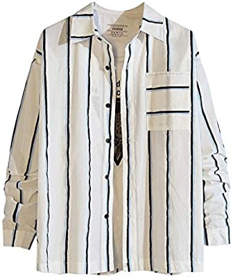 ZODOF camisa hombre camisas sport Nuevo Casual Comodo Moda A rayas Suelto Bolsillo Solapa Manga larga Camisa Tops Blusa Moda para hombre camisa lino hombre(XXL,Azul): Amazon.es: Instrumentos musicales