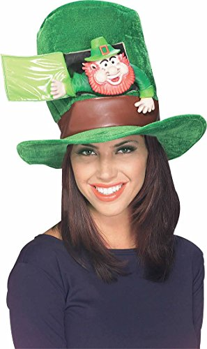 Lady Luck Hat Costume (Rubie's Costume Leprechaun Hat, Green,)