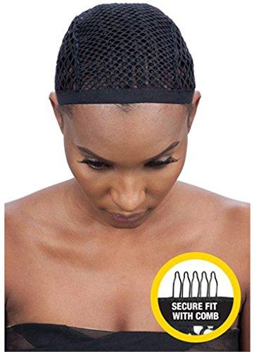 Shake N Go Freetress Crochet Wig Cap with Combs Diamond Shape Net (6 Pack)