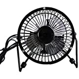 360° Adjustable Mini USB Personal Fan--super mute 4 inch small fan (black)