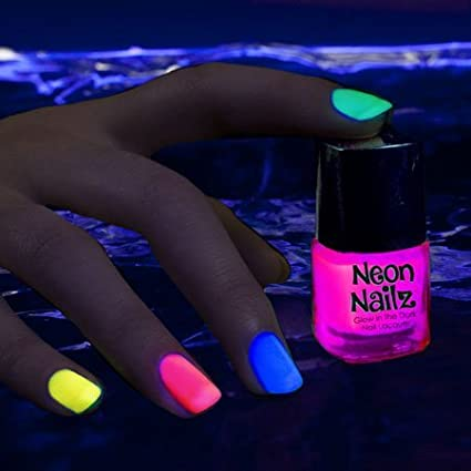 Amazon.com Glow in The Dark Neon Nail Polish Pink Toys