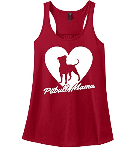 Comical Shirt Ladies Racerback Tank Pitbull Mama Tee Pitt Bully Dog Lover Gift Tee Red XS