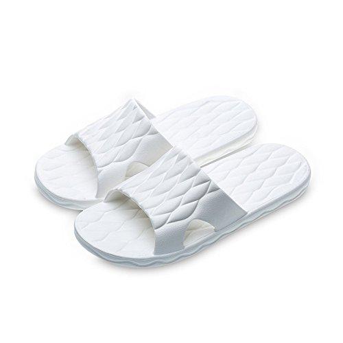 der glatten Der einfachen Plastikpantoffeln Hausfrauen Badezimmersommer Badezimmersommer kühlen weiblichen Inneninnen der der männlichen weiß glatten 8gqFwX