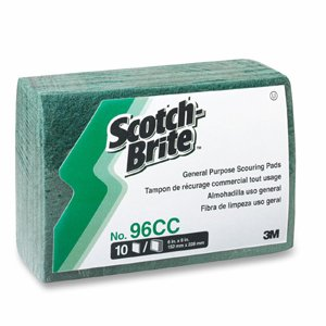 Scotch-Brite PROFESSIONAL Commercial Scouring Pad, 6 x 9, 10/Pack