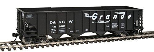 50' 100-Ton 4-Bay Hopper - Ready to Run -- Denver & Rio (Western 4 Bay Hopper)