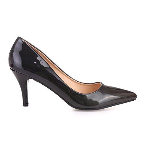 De Vestir Mujer Zapatos 49864 Modeuse La Sintético Negro qv7f88