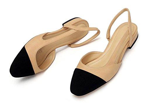 in Night Giuntura Blocco Pelle Morbida Donne Vestiti Tallone Elegante del per Slingback Sandalo Good Pompe U0qwdgHw