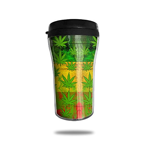 Rasta Weed Live Vacuum Insulated Stainless Steel Coffee And Tea Mug , 8.5-oz