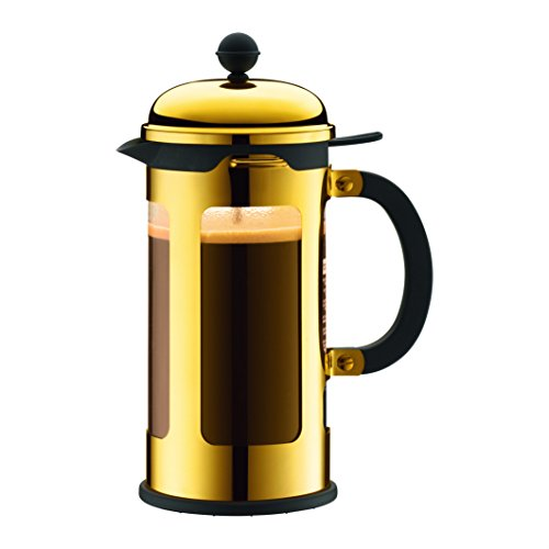 Bodum 11172-17 8 Cup Chambord French Press Coffee Maker, 34 oz, Gold