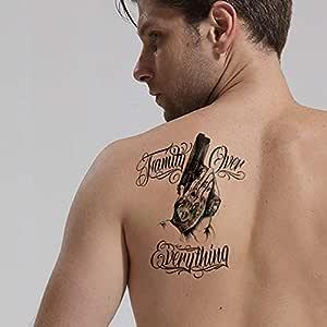 ljmljm 4 Piezas Impermeable Tatuaje Pegatina corazón Mano Pistola ...