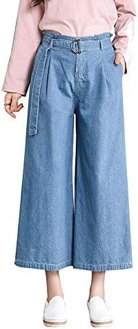 Kaiinz Vaqueros Jeans Pantalones De Mezclilla De Cintura Alta Sueltos Jeans Anchos Para Mujer Pantalones Vaqueros De Cintura Ancha Ocasionales Pantalones Holgados Hasta El Tobillo Vintage Amazon Com Mx Deportes Y Aire Libre