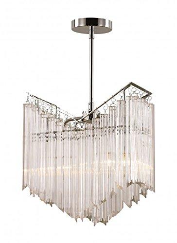 Transglobe Lighting 2-Light Tapered Veil Chandelier