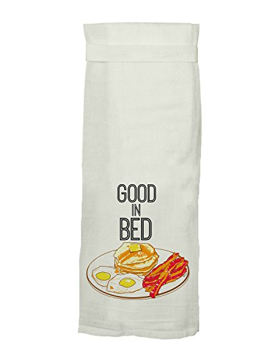 Twisted Wares Kitchen Towel, Adult Humor with Hang Tight Design from Good in Bed Made with A Super Absorbent, Quick Dry, Lint Free 100% Cotton Flour Sack