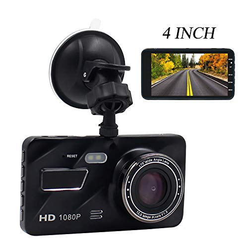 Dual Dash Cam Front and Rear,DareTang Full HD 1080P Car Camera DVR with 4 Inch LCD Screen/170°Wide Angle/G-Sensor/WDR/Parking Monitor/Loop Recording/Motion Detection,Dashboard Camera Recorder