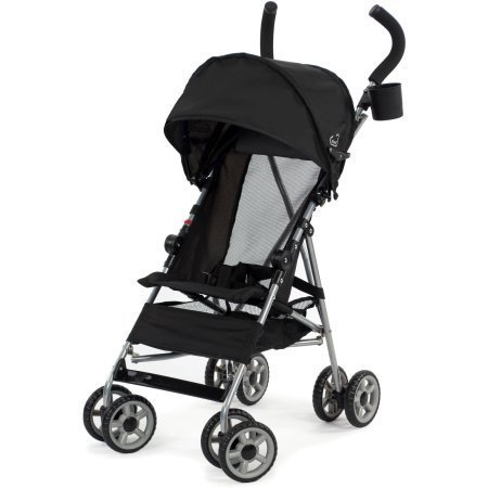 Kolcraft Cloud Umbrella Stroller, Black Travel Umbrella Stroller Comes with an Extended...