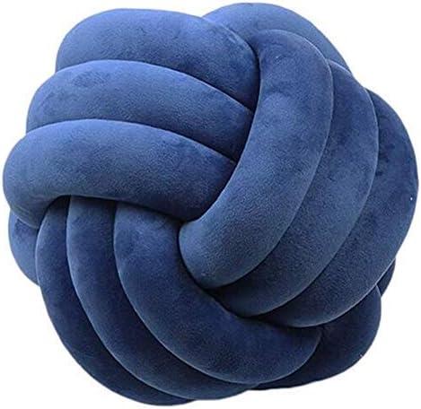 Hava Kolari Knot Kopfkissen Knotenkissen Pl/üsch Kissen Weiche Geknotetes Kissen Knoten Ball Kissen Dekor Bett Zimmer 20cm Durchmesser,Blau