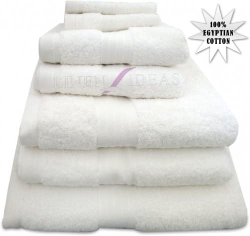 100% toallas de algodón egipcio peinado y adorador, blanco, Toalla de baño Jumbo: Amazon.es: Hogar