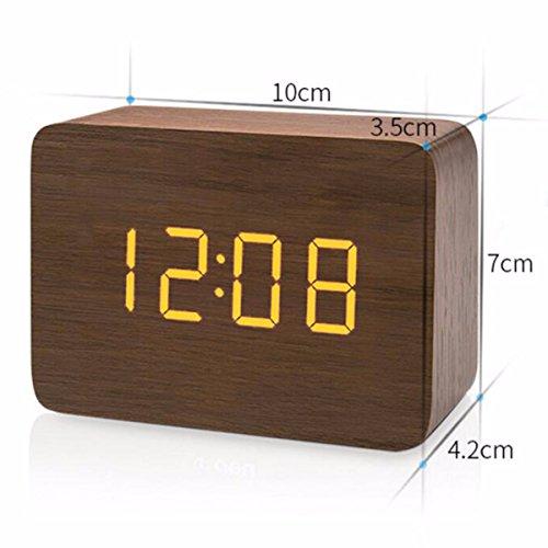 CJSHV clockclockCreative simple A digital luminous bedside alarm mute clock B rrBdTq