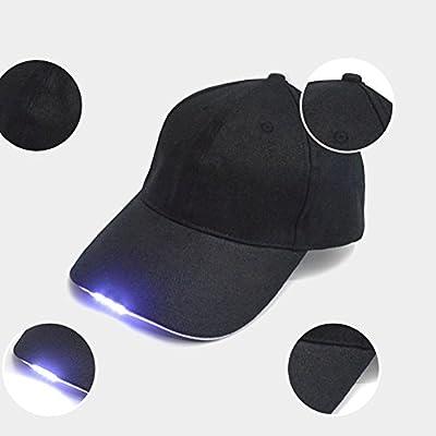 FAVOLOOK 5 LED Gorra de béisbol, Super Brillante luz Intermitente ...