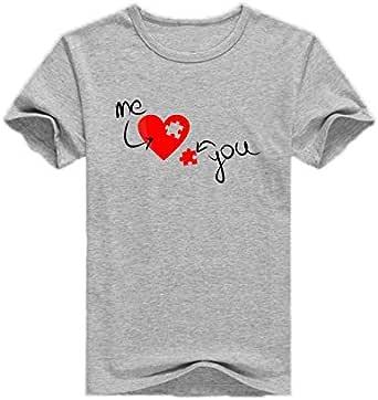 Gray Round Neck Romantic T-Shirt For Men
