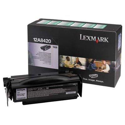 (Wholesale CASE of 2 - Lexmark 12A8420/25 Toner Cartridges-Return Program Print Cartridge, 6000 Page Yield )