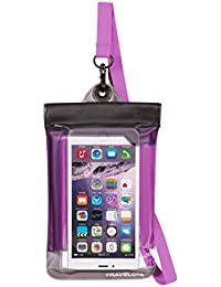 Floating Waterproof Smart Phone/Digital Camera Pouch, Purple