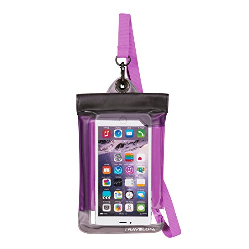 (Travelon Floating Waterproof Smart Phone/Digital Camera Pouch, Purple)