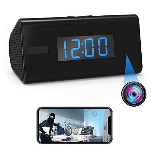 Hidden Camera Spy Camera Clock – Mini Camera Wireless HD WiFi Night Vision PIR Motion Detector Video Recorder Nanny Cam -30 Days Standby – Remotely Real Time View