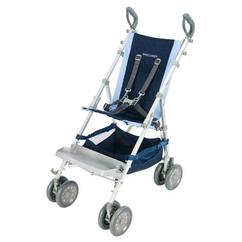 Maclaren Major Elite Stroller, Soft Blue/Navy by Maclaren
