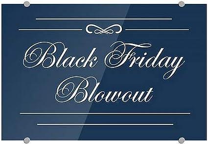 Black Friday Blowout CGSignLab 27x18 5-Pack Classic Navy Premium Acrylic Sign