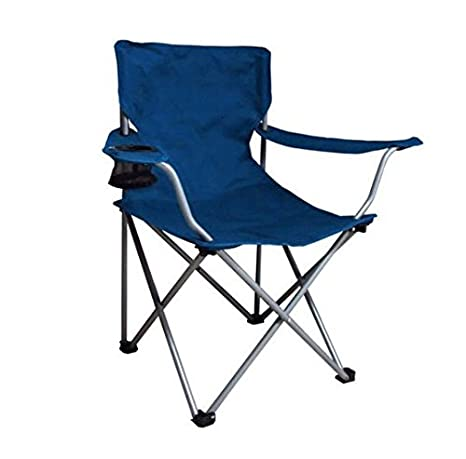 amazon com ozark trail folding camp chair blue sports outdoors
