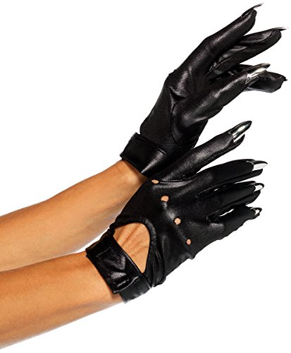 [Claw Motorcycle Gloves - One Size] (Sexy Cat Costumes For Women)