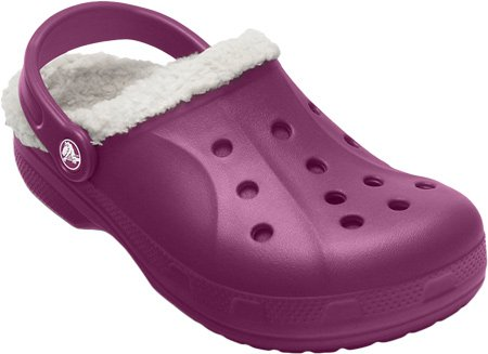 b1b207c6547b32 Crocs Feat Fuzz - Unisex Lined Clogs - Warm Clogs for Men Women Plum oatmeal