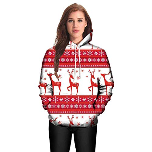 Harpi 2018 Christmas Couples 3D Printing Hoodies Plus Size Women Men Sweatshirt,Autumn Winter Hooded Long Sleeve Blouse Tops